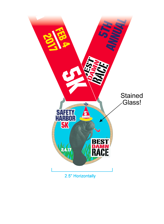 2017 - Safety Harbor - 5K Medal